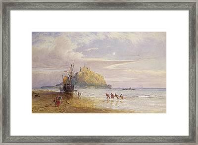 A September Evening, St Michaels Mount, Cornwall Framed Print by John Mogford