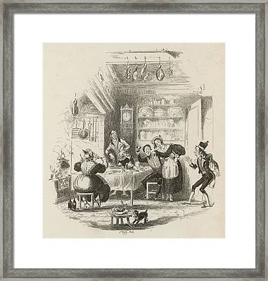 A Servants' Hall At The  Beginning Framed Print by Mary Evans Picture Library