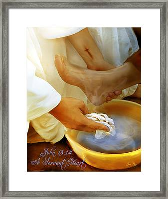 A Servants Heart Framed Print by Jennifer Page