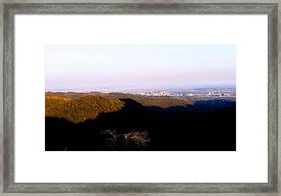 A Shadow Across The Nation Framed Print by Catherine Natalia  Roche