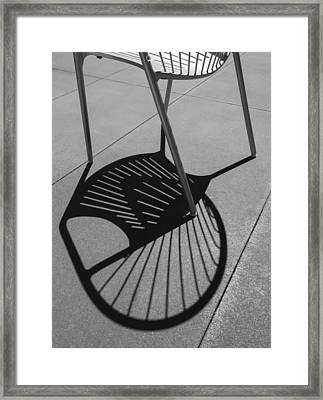 Framed Print featuring the photograph A Shadow Cast - Abstract by Steven Milner