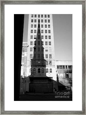 A Shadow Looms Over Us All Framed Print by James Aiken
