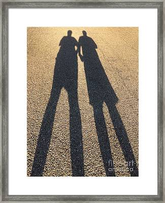 A Shadowy Pair Framed Print by Amy Cicconi