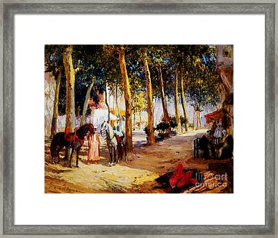 A Shady Street  Framed Print by Celestial Images