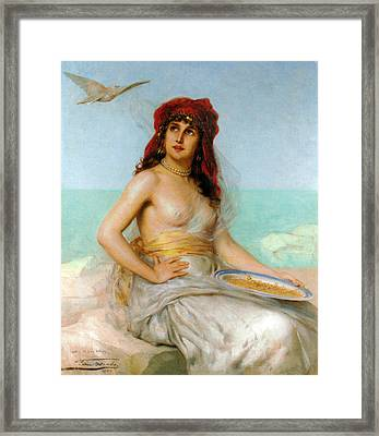 A Shared Moment Framed Print by Leon Herbo