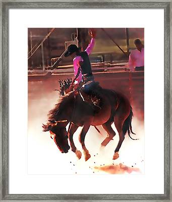 A Shared Ride Framed Print by Terril Heilman