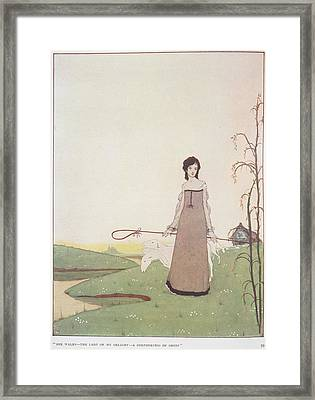 A Shepherdess Framed Print by British Library