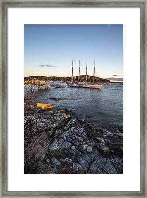 A Ship Framed Print by Jon Glaser