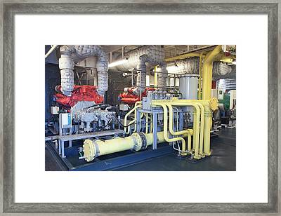 A Ships Engine Framed Print