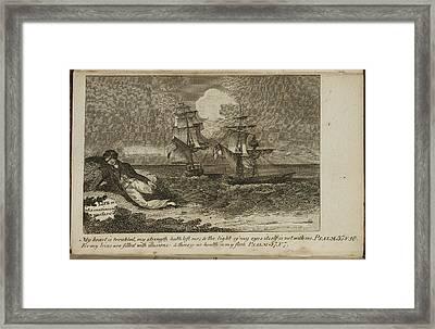 A Shipwreck Scene Framed Print