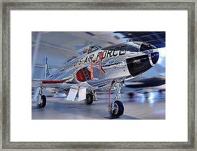 A Shooting Star Framed Print by Metro DC Photography