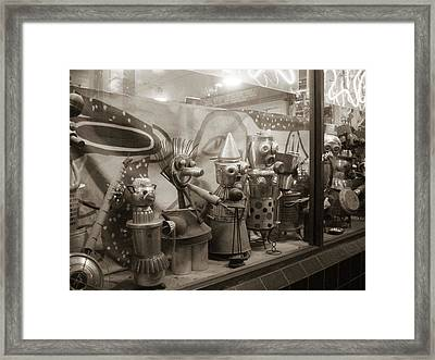A Shop Window At Berkeley Framed Print by Hiroko Sakai