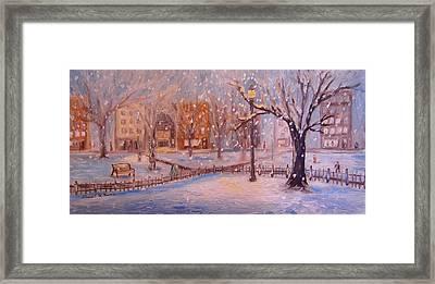 A Short Cut Through The Park Framed Print by Daniel W Green