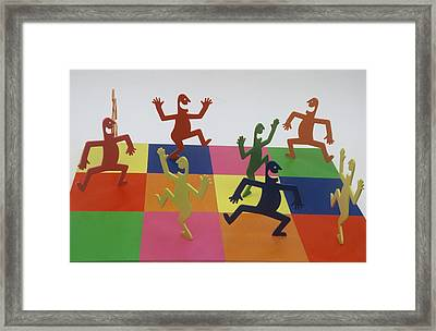 A Shortcut To Happiness - Dancing Framed Print by Peter Michel