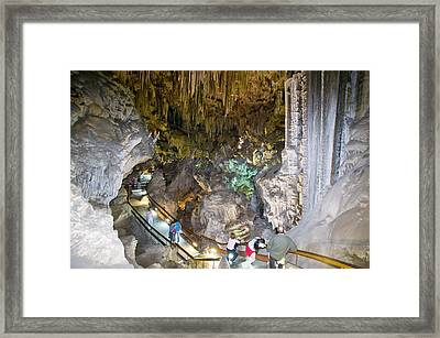 A Show Cave At Nerja Framed Print by Ashley Cooper
