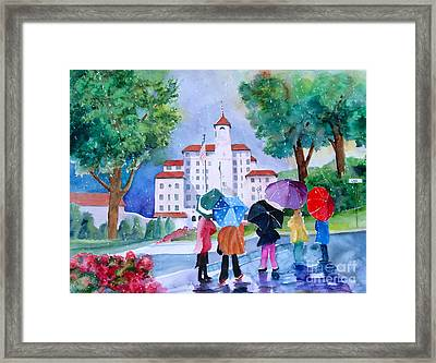 A Shower At The Broadmoor Framed Print