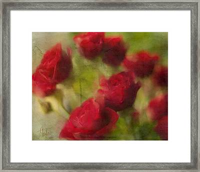 A Shower Of Roses Framed Print