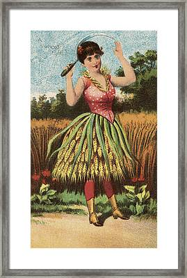 A Shweat Girl Framed Print by Aged Pixel