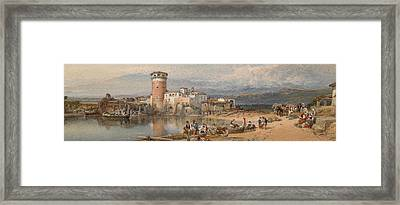 A Sicilian Village Framed Print by William Leighton Leitch