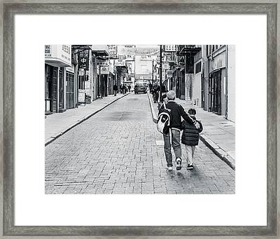 A Side Street In China Town Framed Print