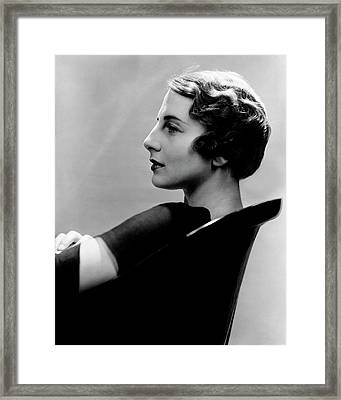 A Side View Of Helen Wills Moody Framed Print by Lusha Nelson