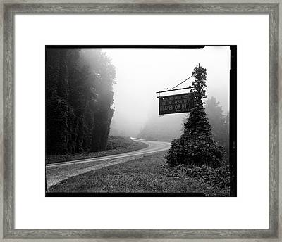 A Sign Covered In Kudzu On Highway 74 Framed Print by Stephen Alvarez
