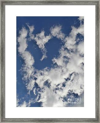 A Sign From Above.....love Framed Print by Eunice Miller