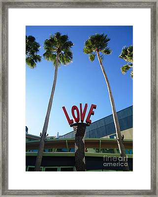 A Sign Of Love Framed Print by Ann Johndro-Collins
