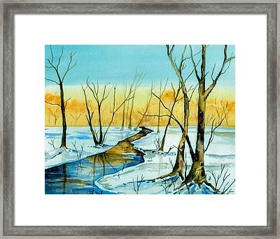 A Sign Of Winter Framed Print by Brenda Owen