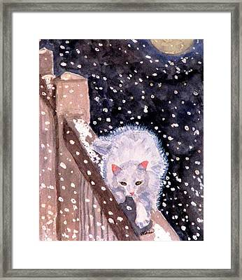 Framed Print featuring the painting A Silent Journey by Angela Davies