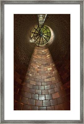 Framed Print featuring the photograph A Silo Of Light From Above by Jerry Cowart