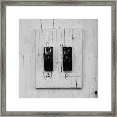 A Simple Choice Framed Print by John Ayo