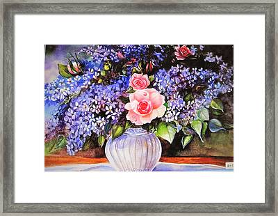 A Simple Flower Framed Print by Patricia Schneider Mitchell