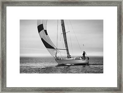 A Simple Moment By The Sea Framed Print
