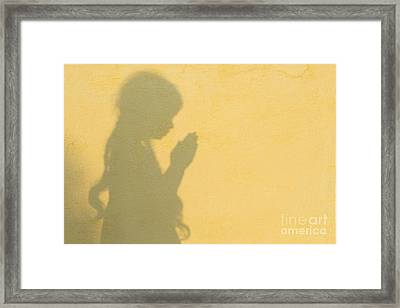 A Simple Prayer Framed Print by Tim Gainey