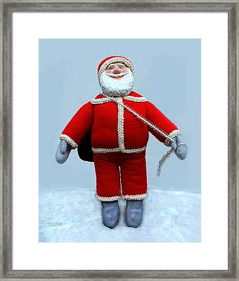 A Simple Santa Framed Print