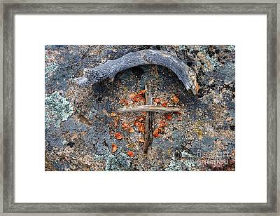 A Simple Sign Of The Cross Framed Print