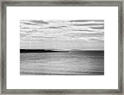 A Simple Welsh Coast Framed Print by Georgia Fowler