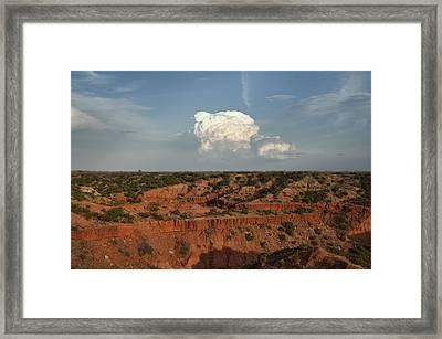 A Single Cloud Framed Print by Melany Sarafis