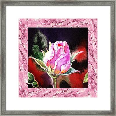 A Single Rose Pink Impressionism  Framed Print by Irina Sztukowski