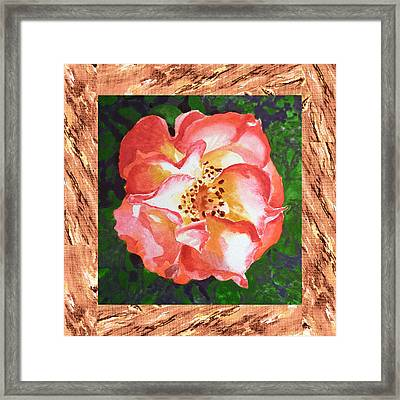 A Single Rose The Dancing Swirl  Framed Print by Irina Sztukowski