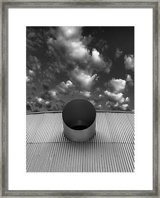 A Single Window Bw North Shore Yacht Club Salton Sea Framed Print