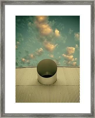 A Single Window Vintage North Shore Club Salton Sea Framed Print