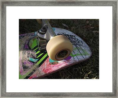 A Skateboard's True Colors Framed Print by James Rishel