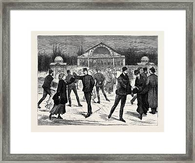 A Skating Hall At Budapest Framed Print by Hungarian School
