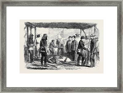 A Sketch At The Landing Place Canton After The Fight Framed Print