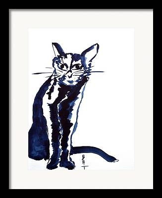 Spirit Cat Essence Paintings Framed Prints