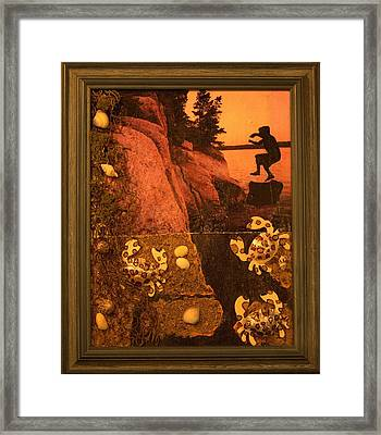 A Skip And Jump Away Framed Print by Kendra Steiner