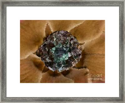 A Sky Full Of Lighters Brown Teal Framed Print by Holley Jacobs