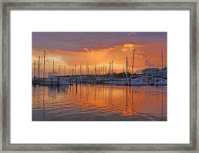 A Sky Full Of Wonder - Florida Sunset Framed Print by HH Photography of Florida